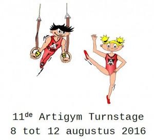 Artigym gaat op stage van 8 aug. tot 12 aug.