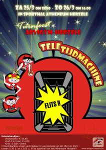 """Generale repetitie Turnfeest """" TELETIJDSMACHINE"""" zaterdag 25 maart"""