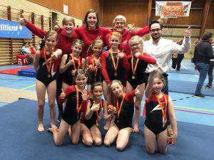 Gymnasten van Artigym doen het fantastisch op de eerste wedstrijd!